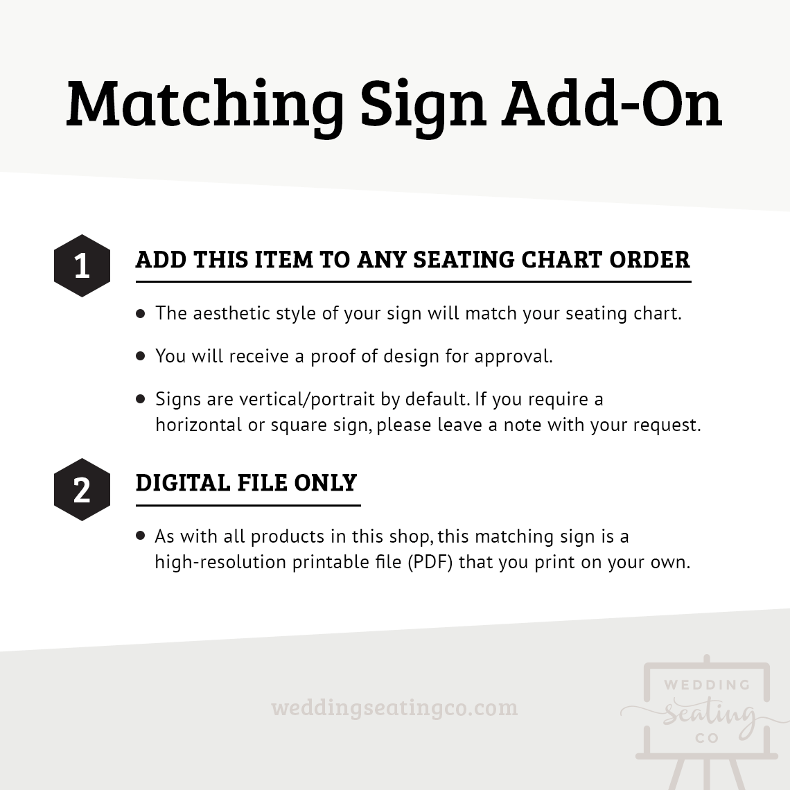 Add On Matching Sign
