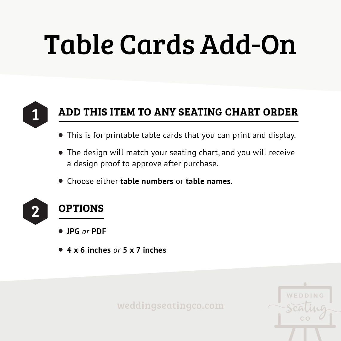 Add On Table Cards