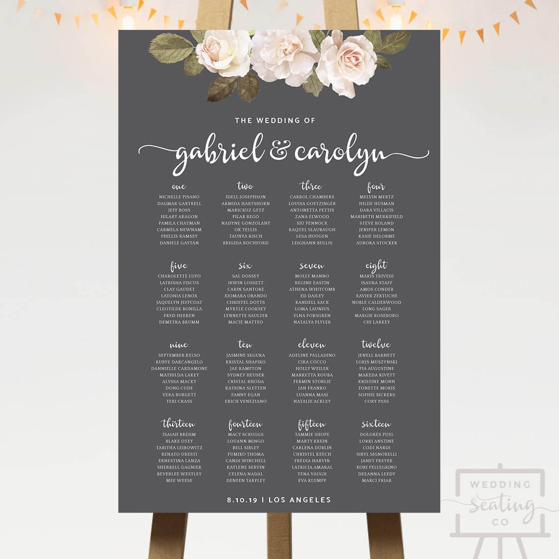 French Florals Wedding Seating Chart