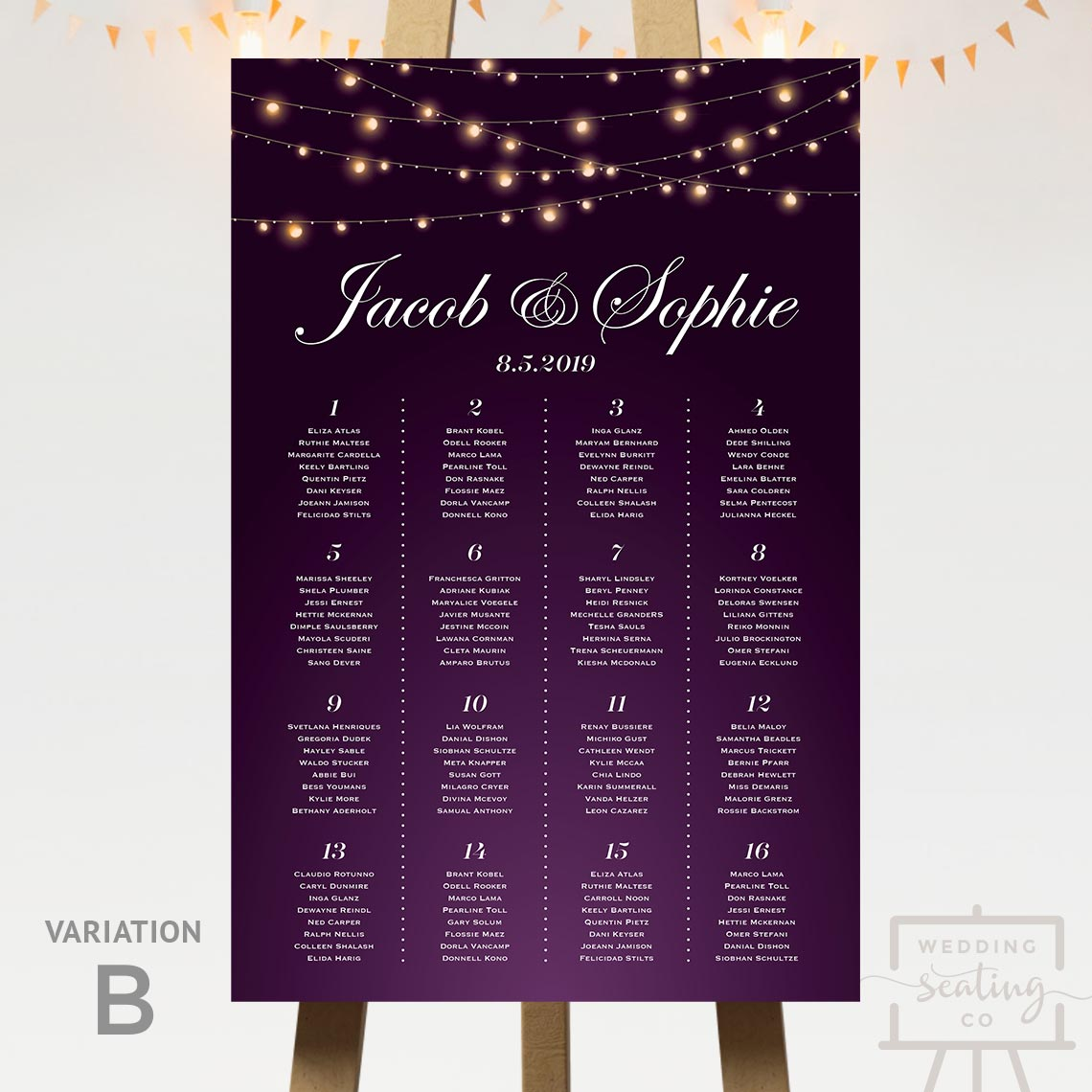 String Lights Seating Chart