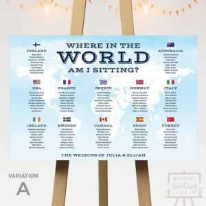 Travel Theme Wedding Seating Plan
