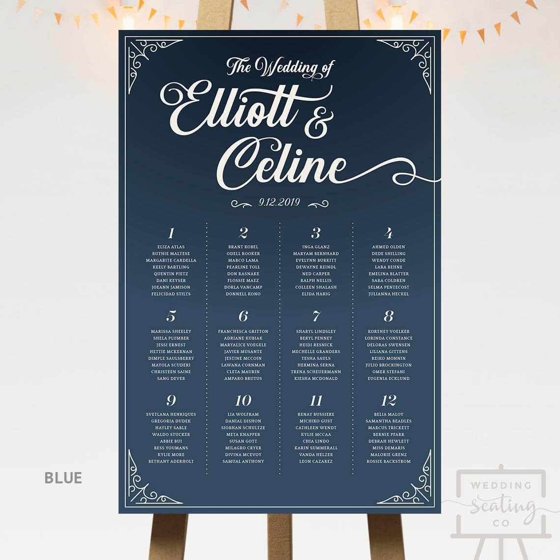 Vintage Wedding Seating Chart