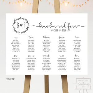 White Background Seating Chart