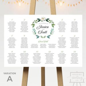 Wreath Seating Plan With Head Table
