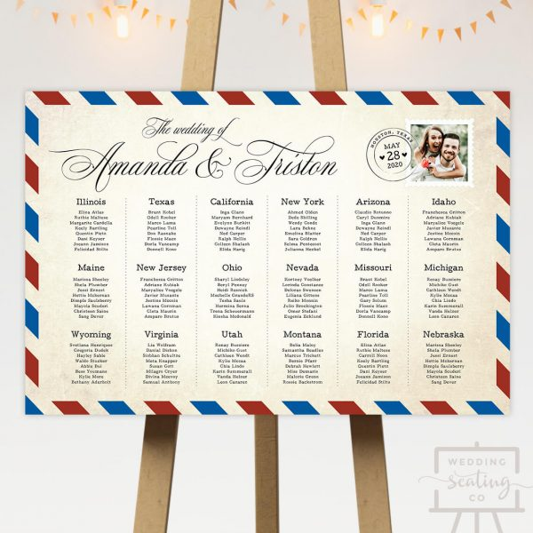 Destination Wedding Seating Chart