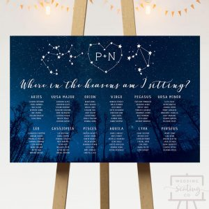 Starry Night Wedding Seating Chart
