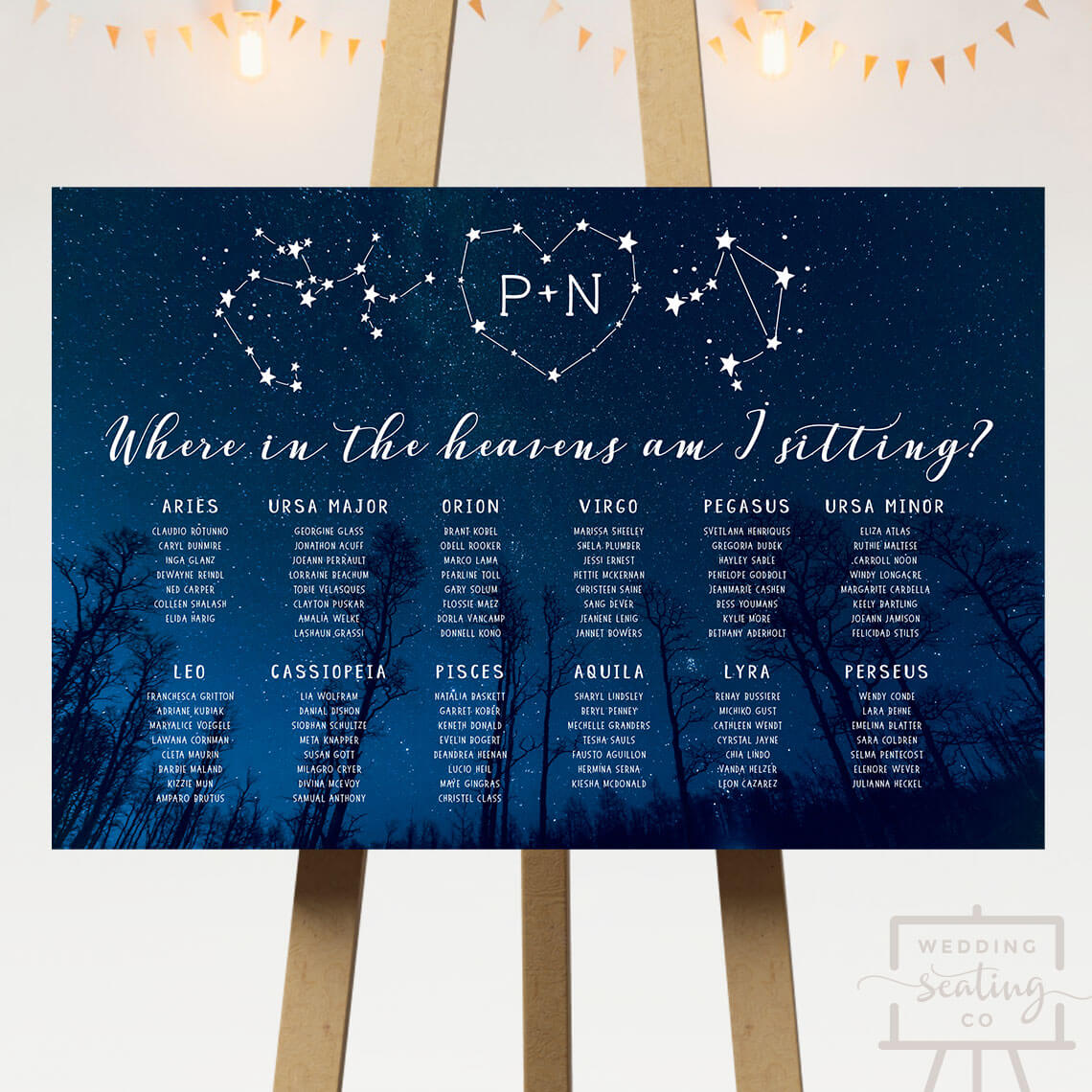 Starry night wedding seating chart wedding seating co starry night wedding seating chart junglespirit Gallery