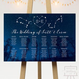 Starry Night Wedding Seating Plan