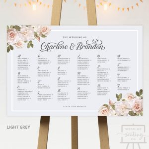 Vintage Blossoms Wedding Seating Board