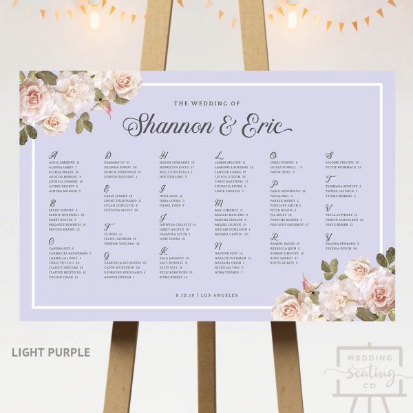 Vintage Blossoms Wedding Table Plan